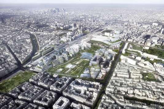 Le quartier Clichy-Batignolles, dans le 17earrondissement de Paris.