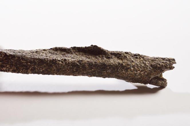 Détail d'un relief osseux (enthésopathie), qui rappelle des anomalies observées chez les joueurs de base-ball.