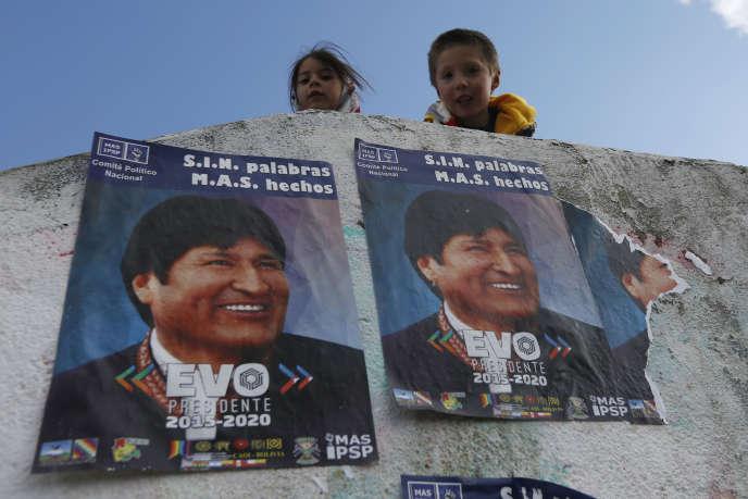 A El Alto, jeudi 9 octobre 2014, à trois jours de la présidentielle bolivienne.