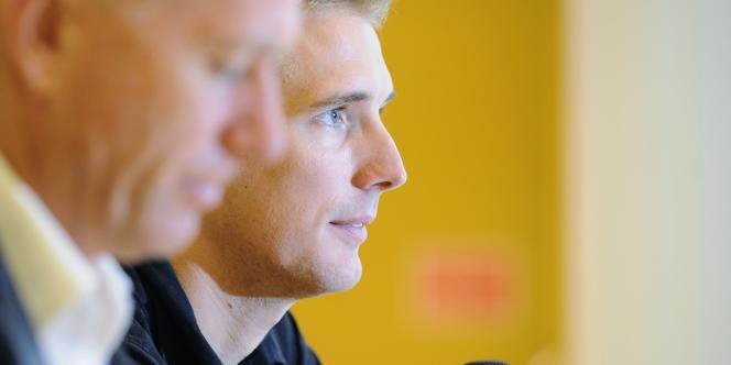 Andy Schleck, ici le 9 octobre lors de l'annonce de sa retraite sportive.