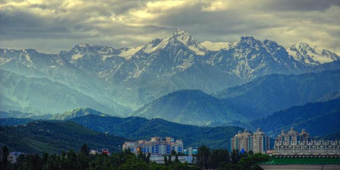 Almaty, principale ville du Kazakhstan.