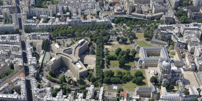 Vue aérienne de l'hôpital du Val-de-Grâce, à Paris.