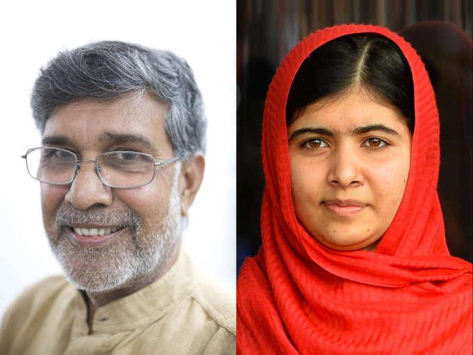 L'Indien Kailash Satyarthi et la Pakistanaise Malala Yousafzaï ont été choisis par le comité parmi une liste 278 candidats « pour leur combat contre l'oppression des enfants et des jeunes et pour le droit de tous les enfants à l'éducation », a déclaré le président du comité Nobel norvégien, Thorbjoern Jagland.