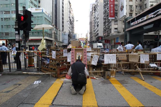 Dans les rues de Hongkong le 10 octobre.