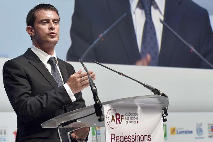 Manuel Valls, le 10 octobre au congrès de l'Association des régions de France