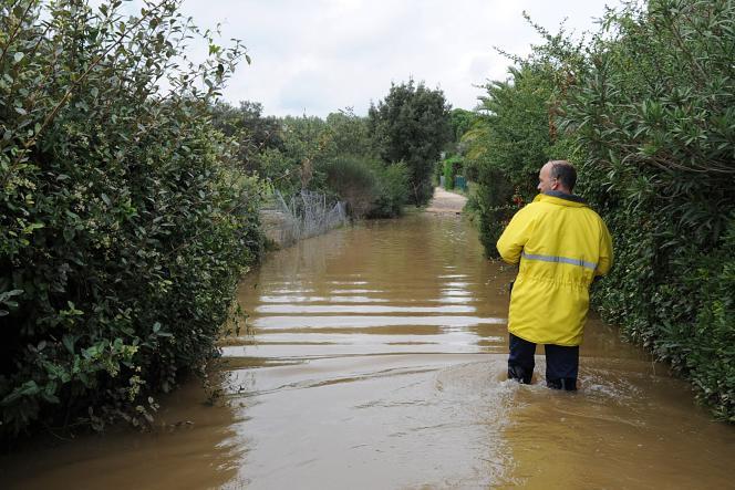 Inondations dans la région de Nîmes, le 10 octobre.