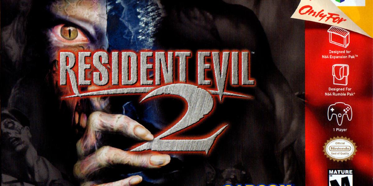 Jaquette américaine de «Resident Evil 2» (Nintendo64, 1998).