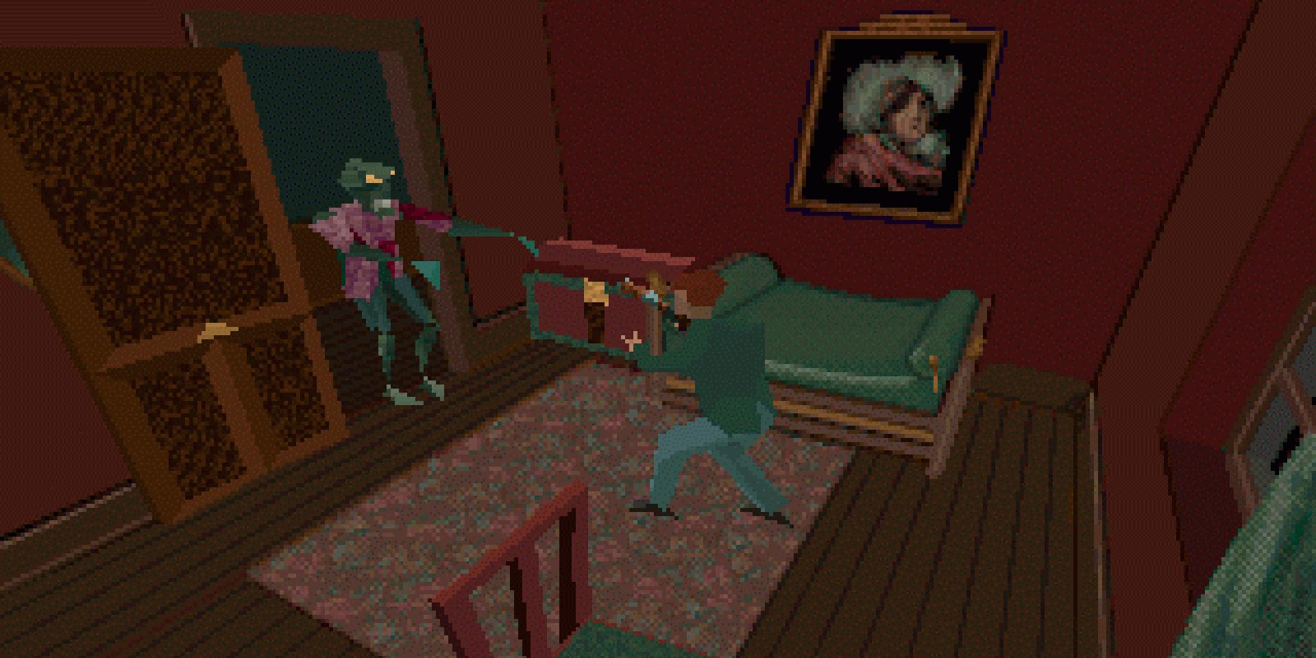 «Alone in the Dark» (DOS, 1992).