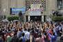 Manifestation d'étudiants au Caire, le 12 octobre 2014.