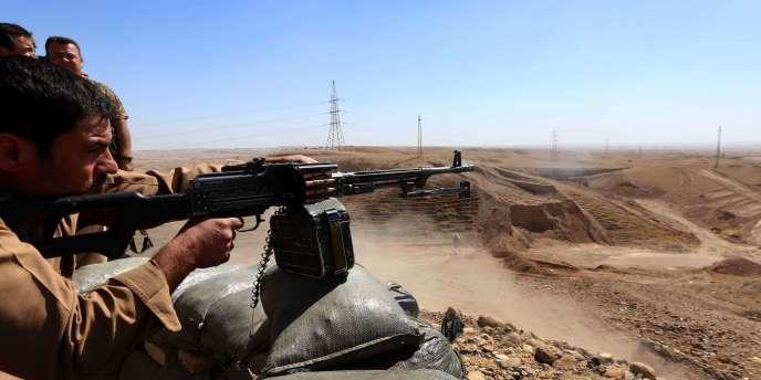 Des combattants pershmergas, à Jalawla, le 27 septembre.