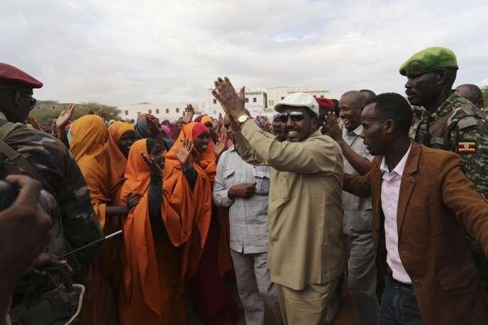 Le président somalien en 2014. La Somalie obtient la dernière place du classement de Transparency International.