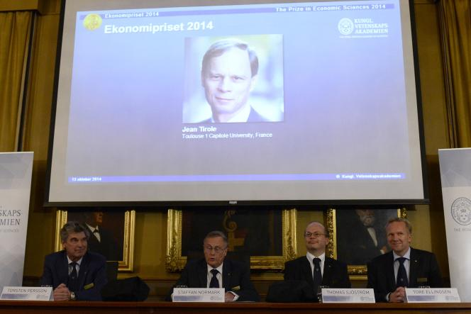«Il nous faudra des universités de niveau mondial pour ne pas manquer ce tournant de l'histoire économique où connaissance, analyse des données et créativité sont au centre de la création de valeur» (Photo: annonce de l'attribution du prix Nobel d'économie à Jean Tirole, en 2014, à Stockholm).