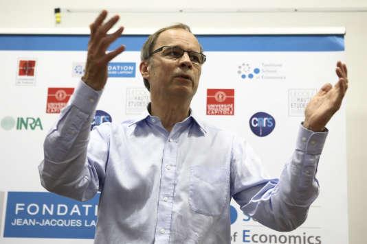 Jean Tirole à l'Ecole d'économie de Toulouse, en octobre 2014.