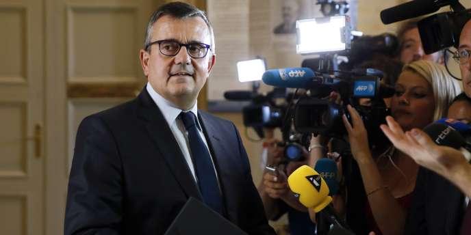 Yves Jégo, député et maire de Montereau-Fault-Yonne (Seine-et-Marne), et candidat à la présidence de l'UDI, en septembre 2004 à Paris.