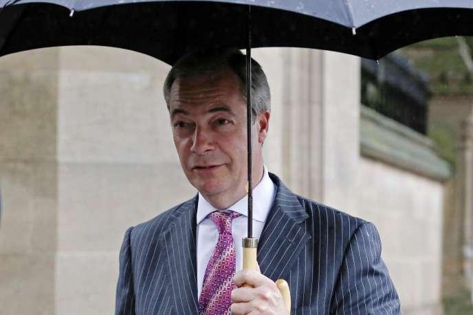 Nigel Farage, le dirigeant du UKIP,  le 13 octobre à Londres.