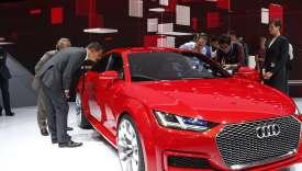 Au Mondial de l'auto, àParis, en 2014.