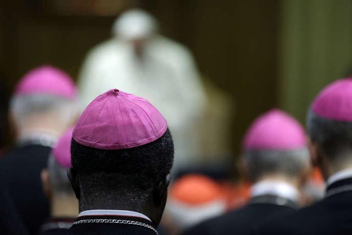 Lors du synode, lundi 13 octobre au Vatican.