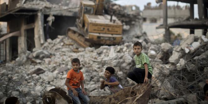 Dans un quartier détruit à l'est de la ville de Gaza, le 12octobre.