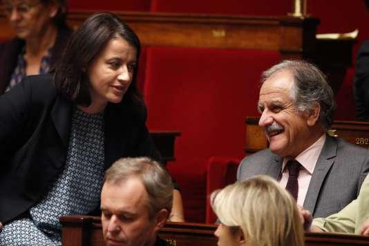 Cécile Duflot et Noël Mamère à l'Assemblée nationale, en octobre 2014.