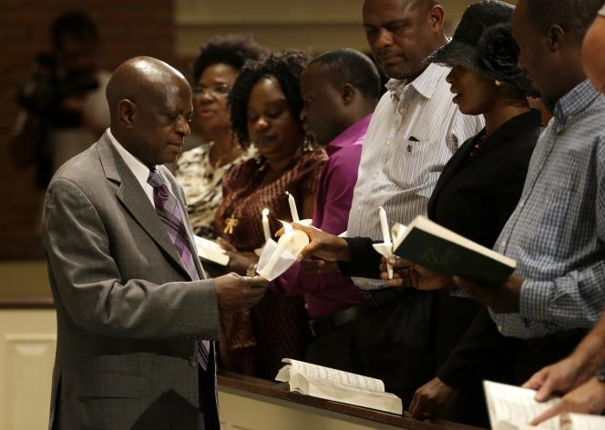 Une cérémonie d'hommage à Thomas Eric Duncan, le 8 octobre à Dallas.