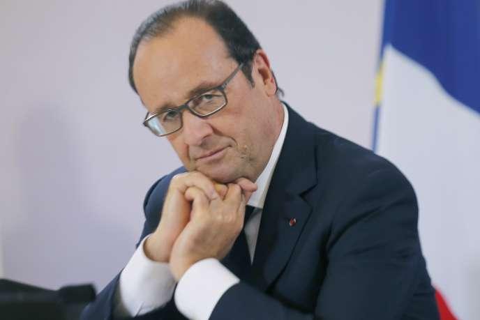 Francois Hollande, le 14 octobre