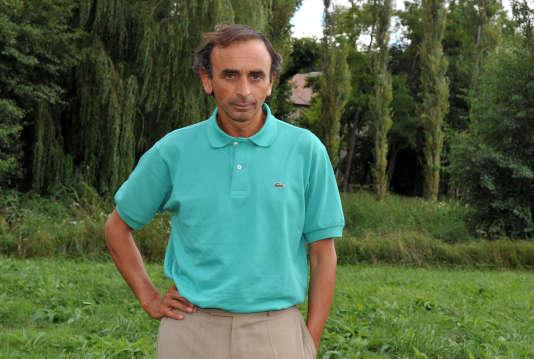 Le polémiste Eric Zemmour à Chanceaux-près-Loches (Indre-et-Loire), en 2010.