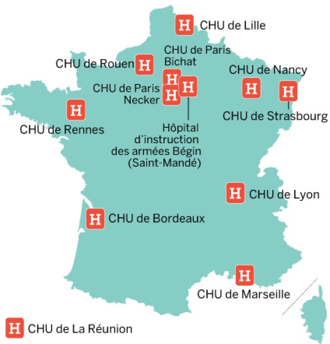Liste des hôpitaux français habilités à prendre en charge les malades d'Ebola