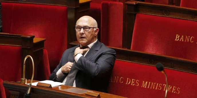 Michel Sapin à l'Assemblée nationale, le 14 octobre.