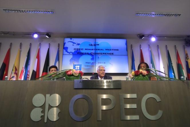 Une réunion de l'OPEP, à Vienne (Autriche), en 2013.