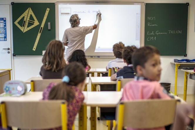 Une classe de l'école Germaine Tillion le 4 septembre 2012 à Lyon.
