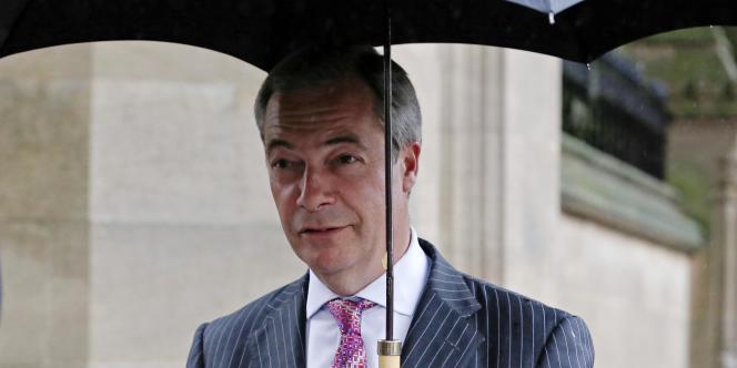 Le Britannique Nigel Farage, le 13 octobre à Londres.