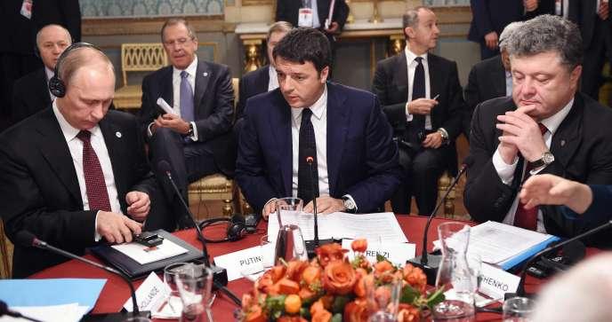 Le président ukrainien Petro Porochenko a dit n'attendre qu'une seule chose de sa rencontre avec M. Poutine : « la paix et la stabilité » en Ukraine.