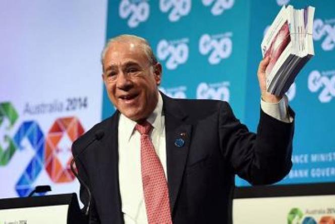 Angel Gurria, le secrétaire général de l'OCDE, lors du G20 en Australie en septembre 2014