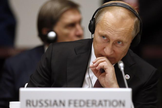 La stratégie de François Fillon «est la forme distinguée de celle, vulgaire et sans scrupule, de Donald Trump : rassembler sur sa personne une majorité de mécontent indépendamment de son programme» (Photo: Poutine au sommet Europe-Asie, le 17 octobre 2014 à Milan).