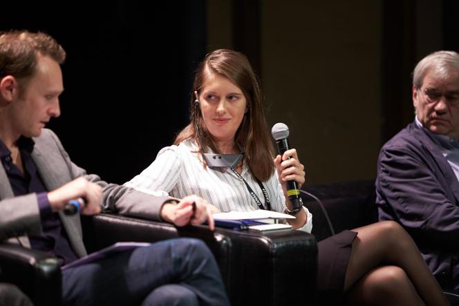 Janneke Slöetjes, représentante de Netflix, lors des Rencontres cinématographiques de Dijon, samedi 18 octobre.