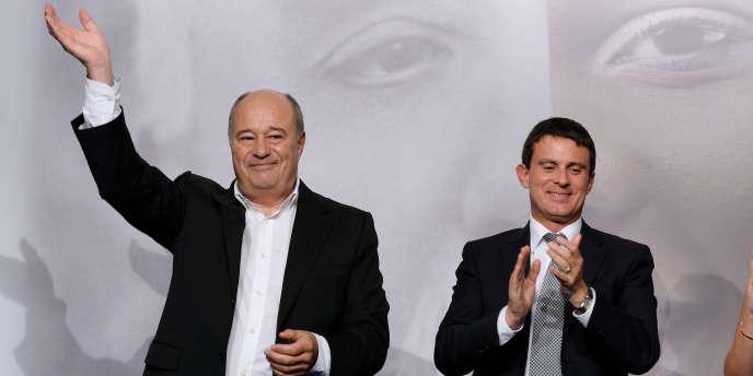Jean-Michel Baylet et Manuel Valls, le 15 septembre 2013.