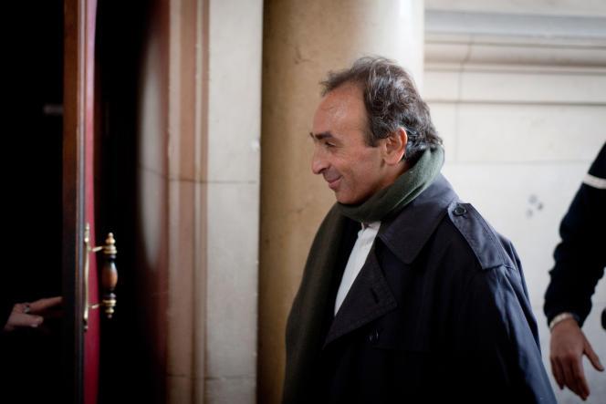 Le journaliste Eric Zemmour en janvier 2011.