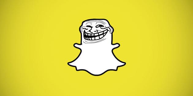 Détournement du logo de Snapchat.