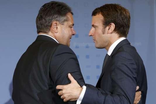Les ministres de l'économie allemand et français à Berlin en 2014.