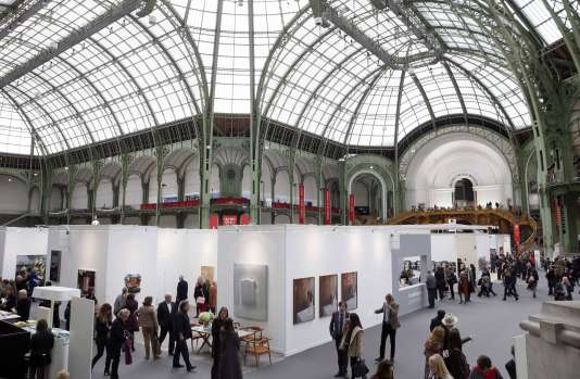 A la Foire Internationale d'Art Contemporain, au Grand Palais, en octobre 2014