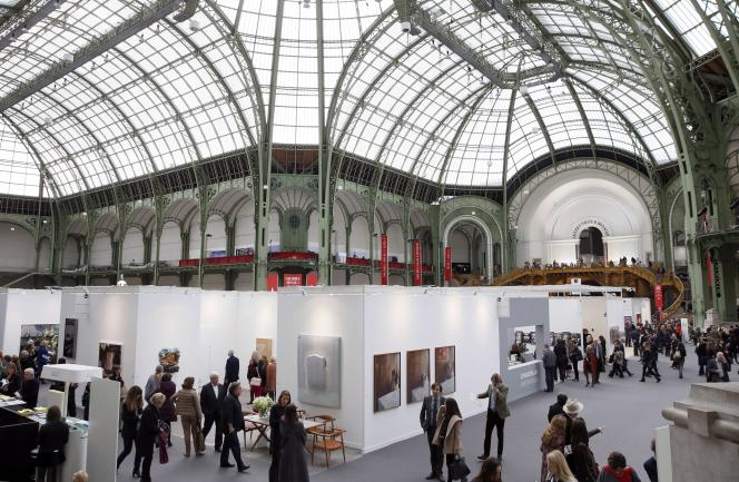 A la Foire Internationale d'Art Contemporain (FIAC), au Grand Palais, en octobre 2014.