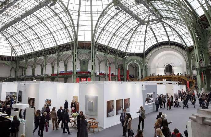 A la Foire Internationale d'Art Contemporain (FIAC), au Grand Palais, en octobre 2014.