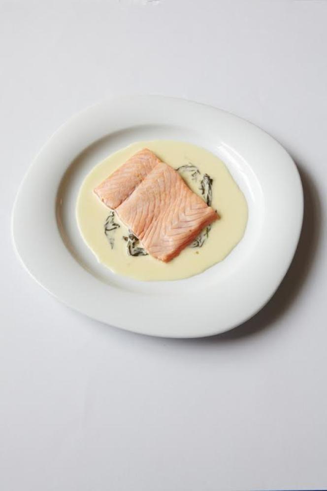 L'escalope de saumon à l'oseille de la maison Troisgros.