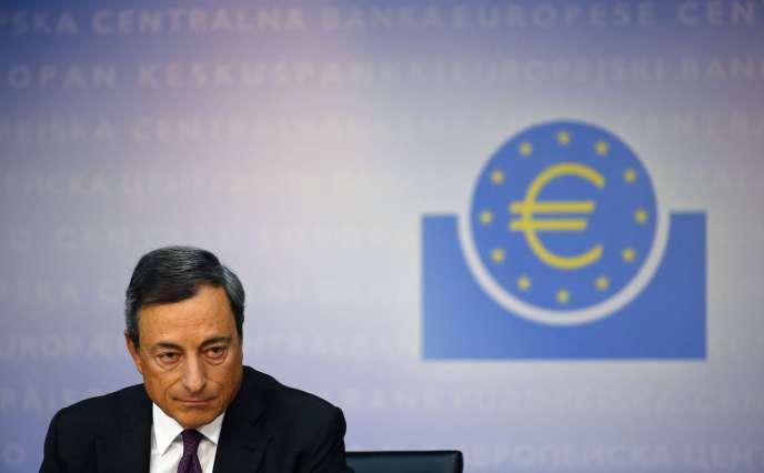 Mario Draghi, le président de la Banque centrale européenne, en 2014.