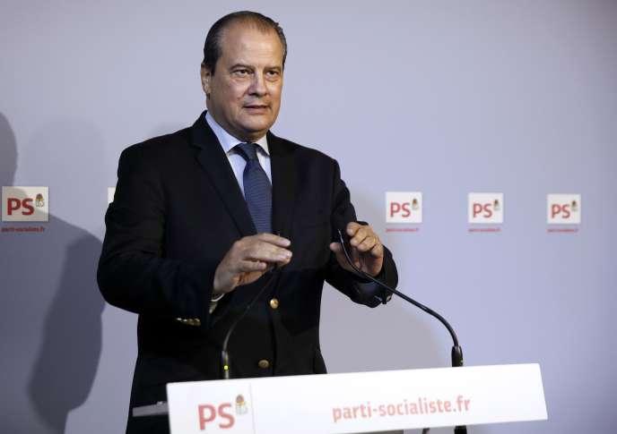 Conférence de presse de Jean-Christophe Cambadélis, premier secrétaire de PS, le 23 octobre 2014.
