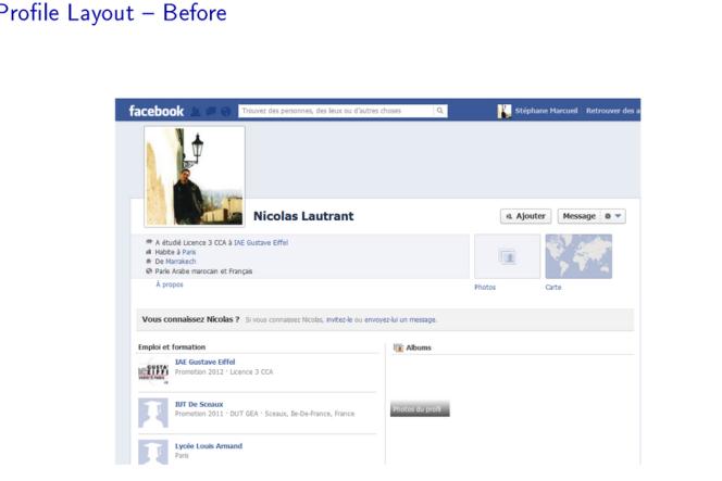 Avec l'ancienne présentation du profil, la langue pratiquée est visible.