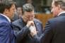 L'ancien président de la Commission européenneJose Manuel Barroso, le premier ministre italien Matteo Renzi et son homologue David Cameron lors d'un sommet en 2014.