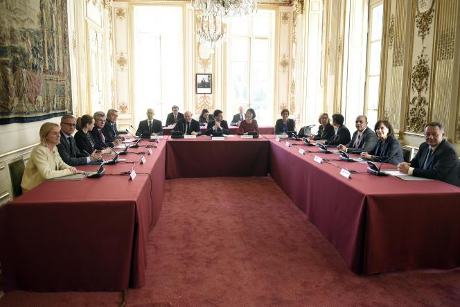 Réunion interministérielle, en avril 2014.