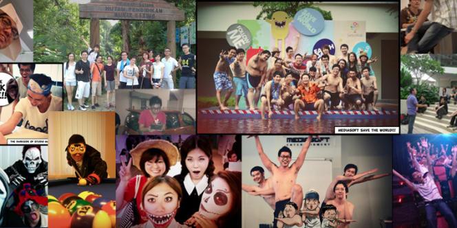 Montage de photos des membres du studio malaisien de Mediasoft Entertainment