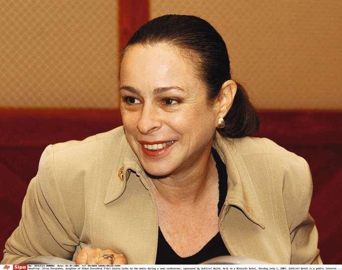 Alina Fernandez, fille dissidente de Fidel Castro, en juillet 2003 à Bruxelles.